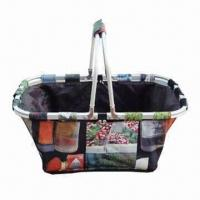 Wholesale Shopping Basket with PVC Coating, Made of 600D Polyester with Aluminum Frame from china suppliers