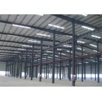 Wholesale Hot Dipped Galvanized Metal Frame Warehouse , Pre Manufactured Steel Buildings from china suppliers