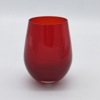 Buy cheap Ruby Stemless Crystal Wine Glass In Solid Red Color For Holiday from wholesalers