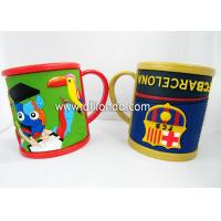 Wholesale High quality 350ml kids personalized 16oz plastic coffee advertising 3d animal shaped mug with handle from china suppliers