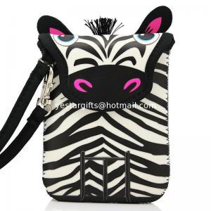 Wholesale Mini Wallet Kids Neoprene Camera Case , 3mm Lovely Zebra Neoprene Camera Pouch from china suppliers