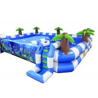 Buy cheap Blue Baby Large Inflatable Swimming Pool Safe 0.55mm Pvc Materia Customized from wholesalers