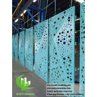 Buy cheap Folded 3D Perforation Aluminum Panels For Curtain Wall Cladding Facade from wholesalers