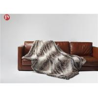 Buy cheap Soft classic Gray Faux Fur Blanket Chinchilla Stripes Throw Winter OEM/ODM Accepted from wholesalers