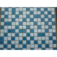 Buy cheap Dark blue decorative glass mosaic with dots from wholesalers