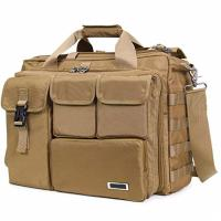 Buy cheap Multifunction Military Laptop Messenger Bag , Tactical Computer Bag Brown Color from wholesalers