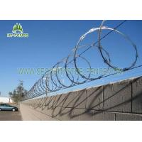 Buy cheap Pre Galvanized Concertina Razor Wire φ 600mm For Site Security Fencing Top from wholesalers