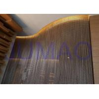 Buy cheap Bended Track Metal Chain Link Curtains Hotel 4m * 6m Size Space Divider from wholesalers