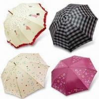 Buy cheap Umbrella with Reinforced Steel, Anti-gale Ribs and Nylon Silver Adhesive Plaster, Fashionable Design from wholesalers