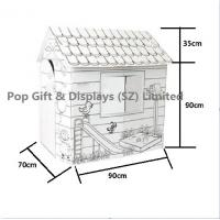 Buy cheap Custom Corrugated Cardboard Furniture Paintable Child Train Cardboard Playhouse from wholesalers