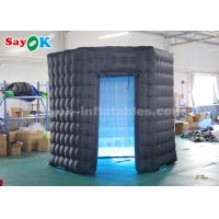 Buy cheap Hexagon Black Inflatable Photo Booth with 17-color LED Light for Party from wholesalers