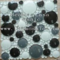 Wholesale White Black 3D Ronnd Glass Mosaic Tile from china suppliers