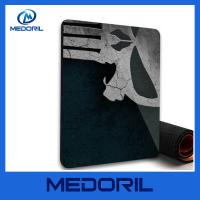 Buy cheap Customized non-slip backing rubber material mouse pad stain resistant cloth top product