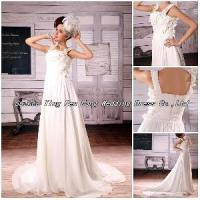 2012 Fashionable Custom Made Handmade Flowers Wedding Dress (BS-045) Manufactures
