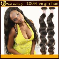 Curly Virgin Brazilian Remy Human Hair Extensions Natural Brown Color Manufactures