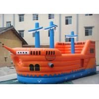 Buy cheap PVC tarpaulin Commercial Grade Inflatable Pirate Ship Slide With Jumping Bouncer Area product