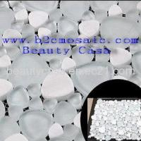 Buy cheap Wihte Marble Mix with Wihte Mesh Glass Mosaic product