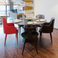 Buy cheap Matte Reddish Ash Wood Modern Fabric Upholstery Dining Chairs for Restaurant from wholesalers