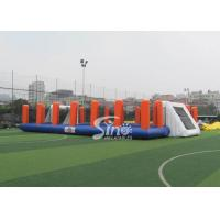 Buy cheap Green Soap Inflatable Football Pitch Hire Kids N Adults Outdoor Football Training Sport from wholesalers