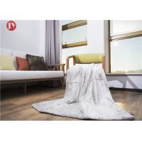 Wholesale Cozy White Faux Throw Blanket , Plush Throw Blanket Bedding Decor Rectangular from china suppliers