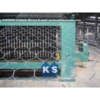 Buy cheap Automatic Hexagonal Wire Netting Production Line Heavy Duty Gabion Mesh Machine product