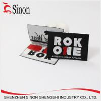 China Eco friendly customized logo branding tag with woven label on sale
