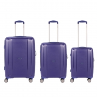 Wholesale Blue Polypropylene Aluminum trolley 3 Pcs Luggage Sets from china suppliers