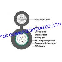 Buy cheap Loose Tube self supporting aerial cable GYXTC8S / outdoor armored fiber optic cable from wholesalers