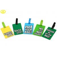 Buy cheap Non-toxic Custom 3D Silicone Gifts , Soft Rubber / PVC Luggage Tag from wholesalers