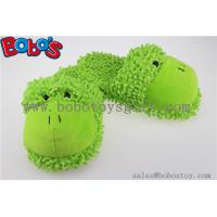 Wholesale Non-Slip Women Shoe Plush Stuffed Soft Frog Animal Home Slippers from china suppliers