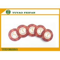 Buy cheap Casino Quality Custom Clay Poker Chips With Two Side Stickers from wholesalers