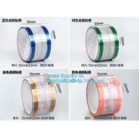 Buy cheap Easy Tearing Remove Masking Tape Seal Drinks And Bags,Easy TAPE OPP Tape food packaging tape coffee cup sealing label from wholesalers