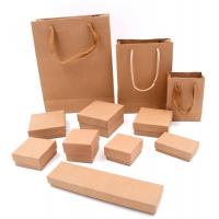 Buy cheap Square Jewelry Packaging Boxes / Handmade Kraft Gift Boxes With Sponge from wholesalers