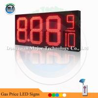 China Red Color 8.88 9/10  12 High Quality RF White LED Gas Price Changer for Gas Station on sale