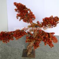 Wholesale Red Leaves Jubilant Artificial Pine Trees Outdoor Shop Decoration from china suppliers