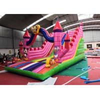 Buy cheap Pink Lovely Children'S Blow Up Water Slide Waterproof For Inground Pool from wholesalers