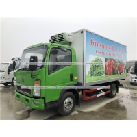 Buy cheap Sinotruk HOWO 5 Tons Refrigerated Truck Vegetable Ice Cream Transport Freezer Truck from wholesalers