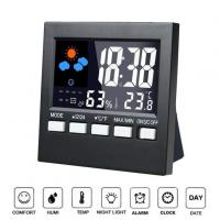 Buy cheap Indoor 12/24 Hour Time Display Digital LCD Weather Clock With Backlight from wholesalers