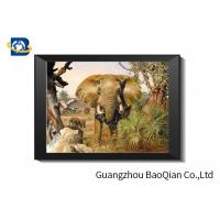 Wholesale Flip Effect Lenticular Image 40 x 40 cm , 3D Lenticular Printing Pictures Elephant Theme from china suppliers