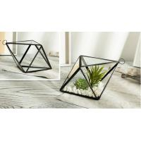Buy cheap Geometric Micro Stereoscopic Landscape Glass Hanging Planters / Copper Glass Planter Box from wholesalers