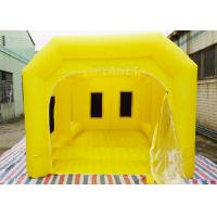 Wholesale 6 M Yellow Inflatable Spray Booth / Automotive Paint Booths Two Air System from china suppliers
