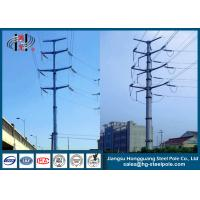 Buy cheap Steel Electrical Power Transmission Poles with Flange Connection for power transmission line from wholesalers