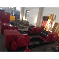 200T Heavy Duty Welding Turning Rolls Bolt Adjustment With Metal Rollers