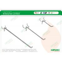 Buy cheap 18 Sloping J Arm Retail Display Hooks , Chrome Slot System / Pegboard Hook from wholesalers