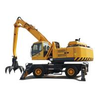Buy cheap 15Km/H Hydraulic Material Handler Hydrauolic Wheeled Grabber Excavator With Elevation Cab from wholesalers