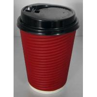 Buy cheap Light Weight Disposable Paper Cups With Lids Anti Slip Design , Double Wall For Hot Drink from wholesalers