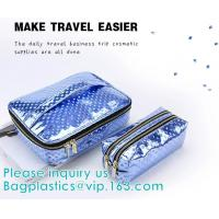 Buy cheap HANDBAG,PORTABLE WASH POUCH Promotional PVC/EVA cosmetic Bag with Handle,PVC Bedding Blanket Bag with Handle, makeup bag from wholesalers