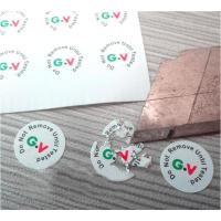 Quality High Brittle White Security Labels Stickers Strong Adhesive Difficult Remove For Screw for sale