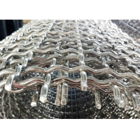 Buy cheap 1.1mm Wire Diameter Stainless Steel 316 Crimped Square Wire Mesh Netting from wholesalers