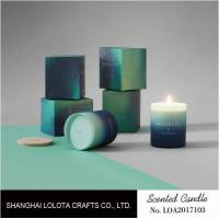 Wholesale Gradient Color Soy Wax Handmade Jar Candles Aurora Sky Green Bottle Non Toxic from china suppliers